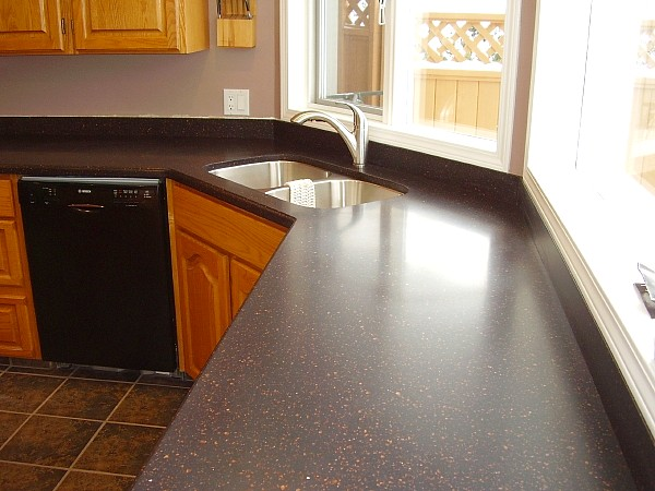 Photos andrew 39 s cabinetmaking design for Solid surface kitchen sink